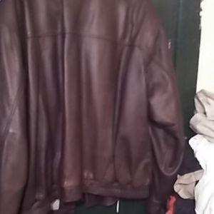 Genuine leather bomber
